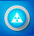 white triangle sign with radiation symbol icon vector image vector image