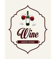 wine design vector image vector image