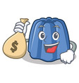 with money bag jelly character cartoon style vector image