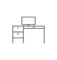 Workplace icon outline vector image