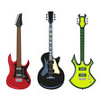 collection of heavy metal electric bass or vector image