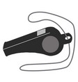 whistle icon on white background whistle sign vector image