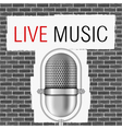 Live Music Banner vector image