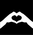 hand making sign Heart vector image