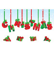 3d christmas vector image vector image