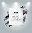 abstract background low polygon background with vector image vector image