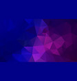 abstract polygonal background blue purple violet vector image vector image