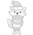 adult coloring bookpage a cute cartoon ratton vector image vector image