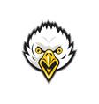 American Bald Eagle Head Screaming Retro vector image