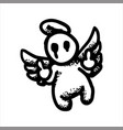 angel with wings showing gesture off vector image