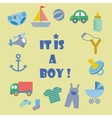 Baby shower invitation card for boy vector image vector image