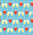 bright seamless pattern with strawberry and vector image