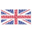 british flag mosaic of skull icons vector image vector image
