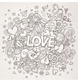 Cartoon hand drawn Doodle Love vector image vector image