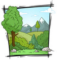 cartoon nature landscape background vector image