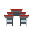 Chinese temple icon flat style vector image vector image