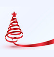 christmas tree tape design banner vector image vector image