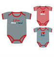 collection of clothes for newborn boy vector image