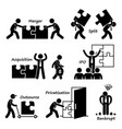 corporate company business concept stick figure vector image vector image