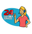 customer services girl vector image