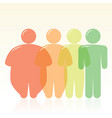 diet and fat to thin human silhouettes vector image