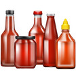 different design of bottles for sauce vector image