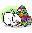 easter bunny cartoon vector image