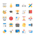 education school students and study flat icons vector image