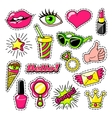 Elements For Girls In Comic Style vector image