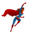 flying superhero cartoon vector image vector image