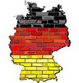 Germany map on a brick wall vector image