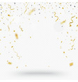 gold confetti background isolated on transparent vector image vector image