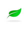 green leaf symbol vector image vector image