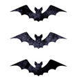 halloween silhouettes of watercolor terrible bats vector image vector image