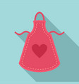 heart apron icon flat style vector image