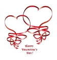 Heart ribbon bow