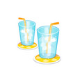 ice glass isolated on white vector image