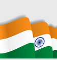 Indian waving Flag vector image vector image