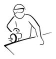 Industrial worker vector image vector image