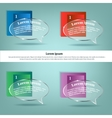 Infographics Transparent cloud thoughtsSpace for vector image vector image