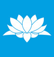 lotus flower icon white vector image vector image