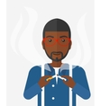 Man quit smoking vector image
