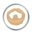 Man s beard icon in cartoon style isolated on vector image