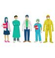 medical staff set vector image