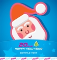 Merry Christmas Santa Claus New Year Card vector image vector image