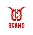 modern bull horns and letter c logo vector image vector image