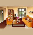 modern living room space vector image vector image