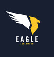 modern logo of an eagle isolated in a flat style vector image vector image
