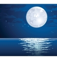 moonlit vector image
