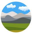 natural cartoon landscape in circle vector image vector image